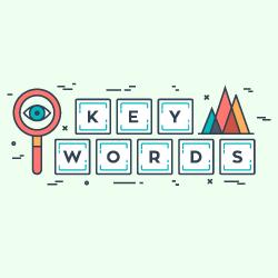 image of term keywords on building blocks