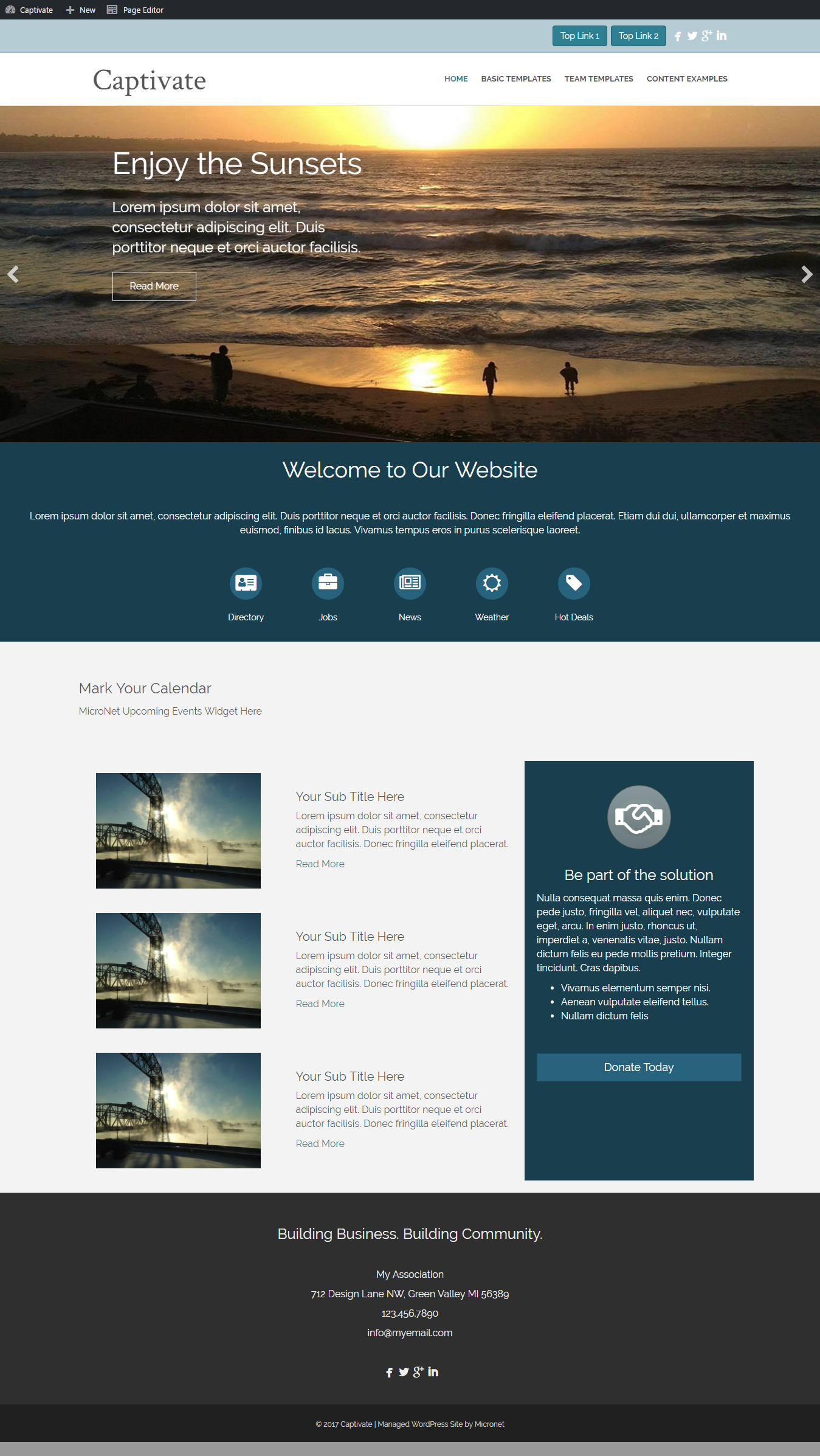 home web design. CAPTIVATE Website Design  ChamberMaster