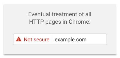 image of eventual treatment of all HTTP pages with Chrome