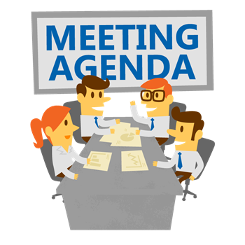 Have an agenda to keep your meeting on track