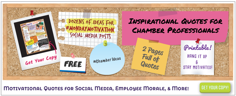 image of corkboard with link to social media idea sheet