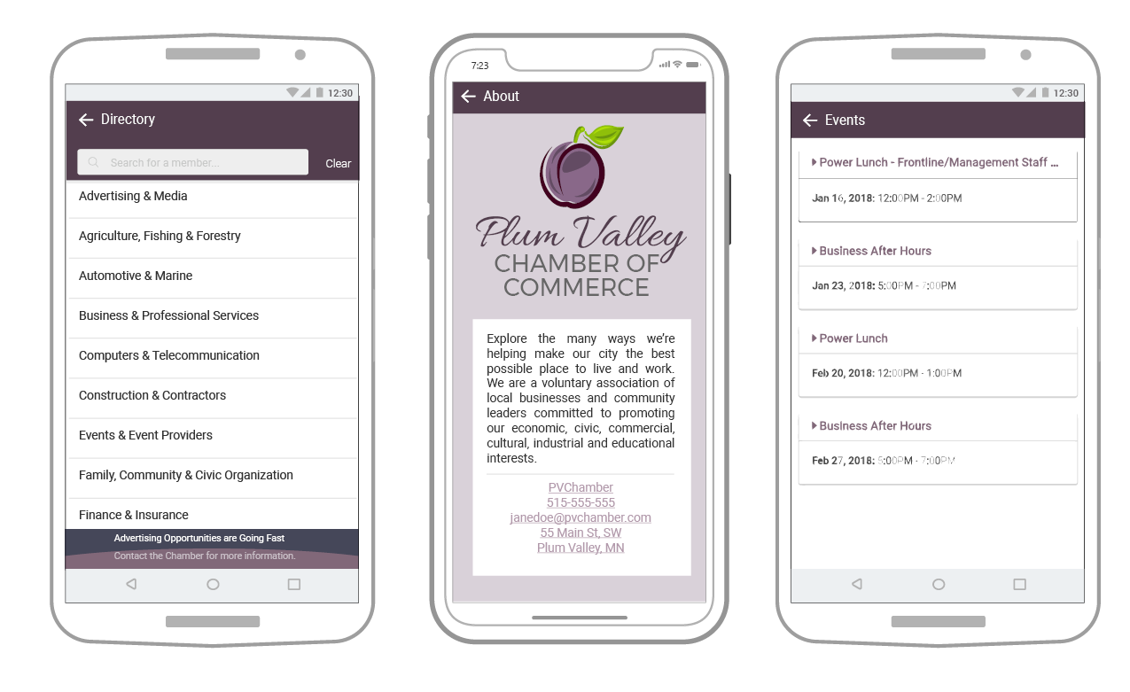 image of community app screens