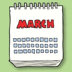 march calendar page