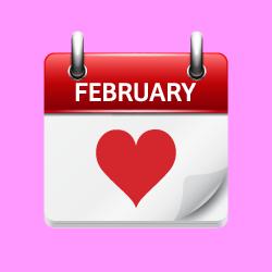 heart february calendar page