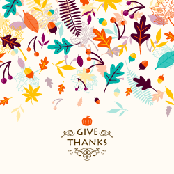 give thanks image with leaves
