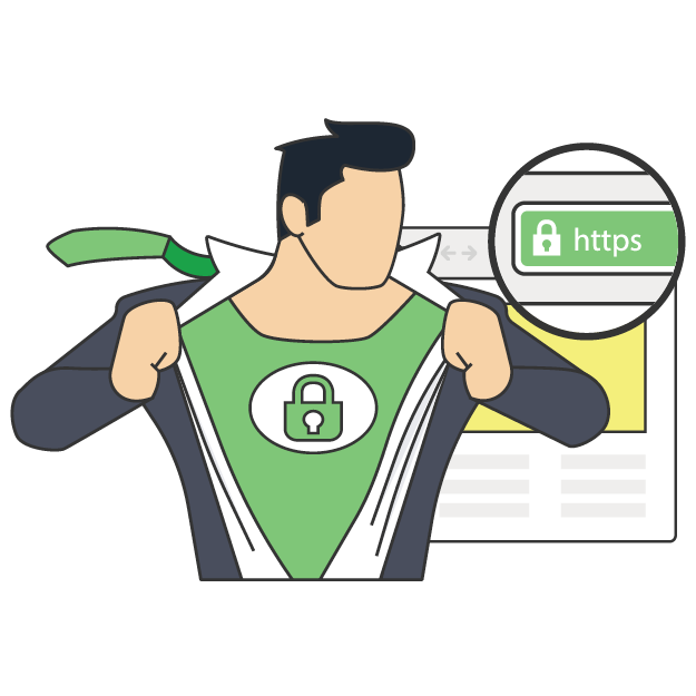 image of HTTPS super hero