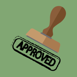 image of approval rubber stamp