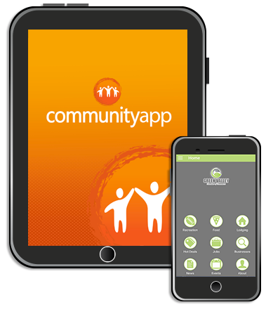 image of communityapp on phone and tablet
