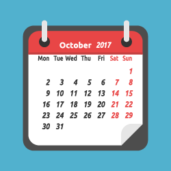 chamber of commerce social media calendar for October image
