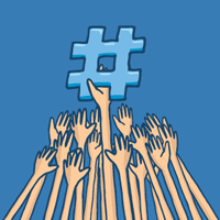 image of social media hashtag