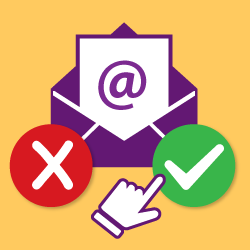 image of email icon with check mark