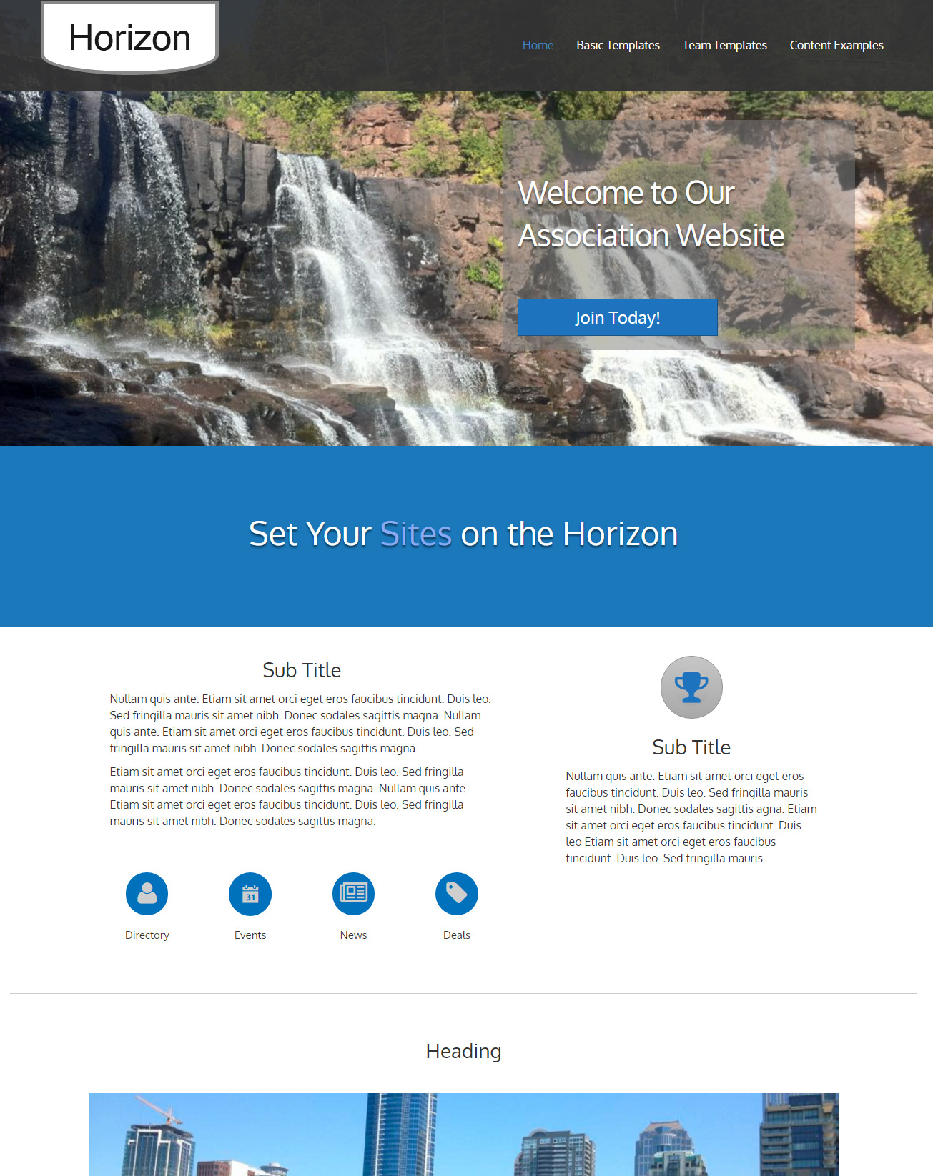 image of Chamber of Commerce Website Design Horizon