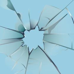 image of cracked ice