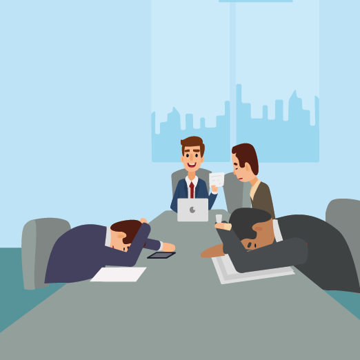 image of boring meeting