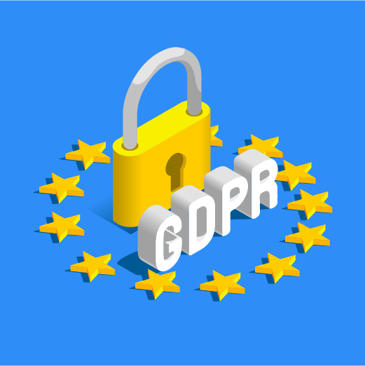 image of padlock with GDPR