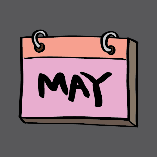 image of May calendar page