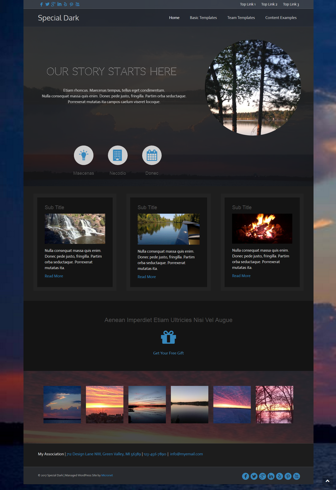 image of Chamber of Commerce Special Dark Website Design